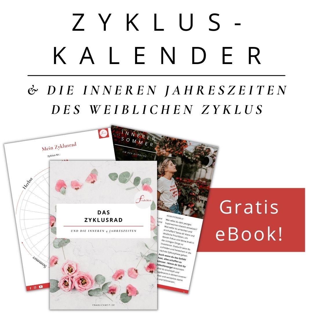 Fraulichkeit kostenloses Ebook Zyklusrad Zykluskalender innere Jahreszeiten weiblicher Zyklus mit Anne Lippold